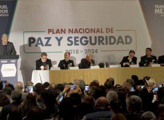 Presenta López Obrador el Plan Nacional de Paz y Seguridad 2018-2024