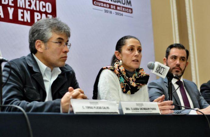 Sheinbaum revela la estrategia para una CDMX Segura y en Paz