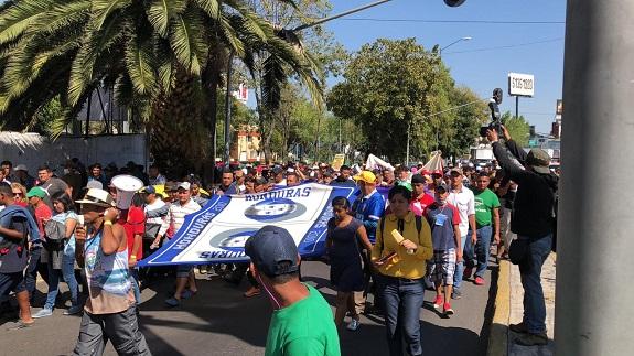 Migrantes Hondureños se manifiestan en las calles de la CDMX