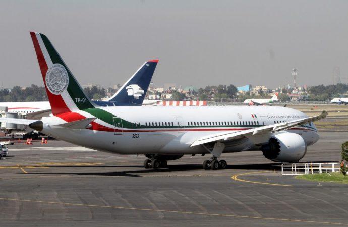 Realiza avión presidencial último despegue desde aeropuerto capitalino