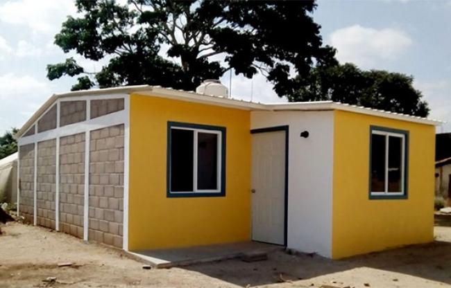 Reconocen proyecto de vivienda digna en comunidad destruida por sismos