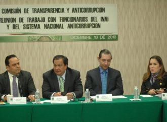 Reconocen diputados esfuerzos del INAI y del Sistema Nacional Anticorrupción por ajustarse a austeridad