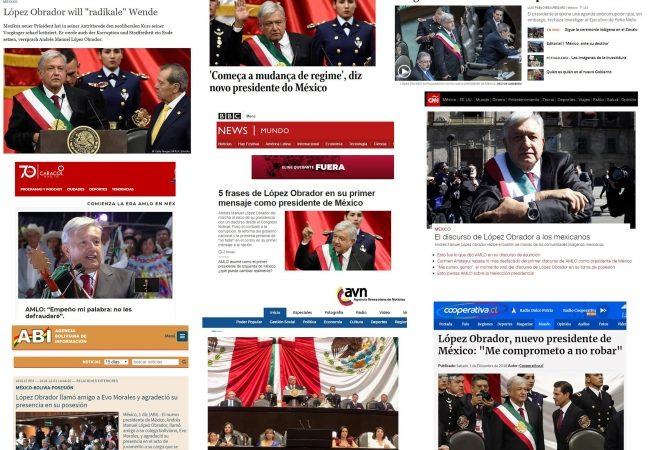 Prensa internacional destaca asunción de López Obrador