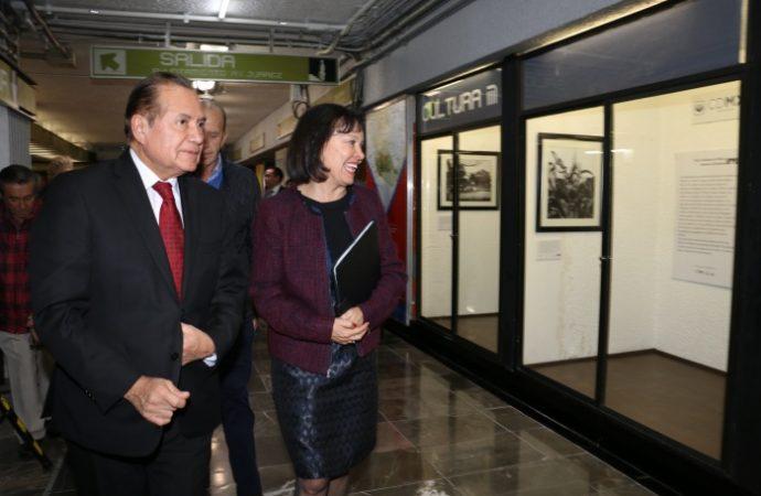 Inaugura STC estación Emblemática del Museo de Arte Popular