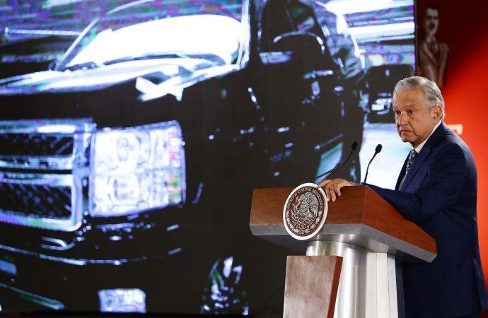 Presidente López Obrador anuncia próxima subasta de 263 vehículos del gobierno federal