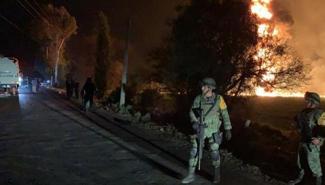 Ejército aplica Plan DN-III-E por explosión en ducto de Tlaxiaca