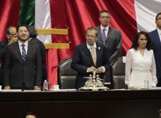 Declara diputado Porfirio Muñoz Ledo apertura del Periodo de Sesiones Extraordinarias del Congreso de la Unión