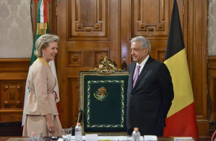 El presidente López Obrador recibe a la princesa Astrid de Bélgica en Palacio Nacional