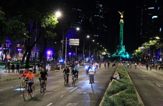 Alertan de afectaciones viales por Paseo Nocturno en Bicicleta