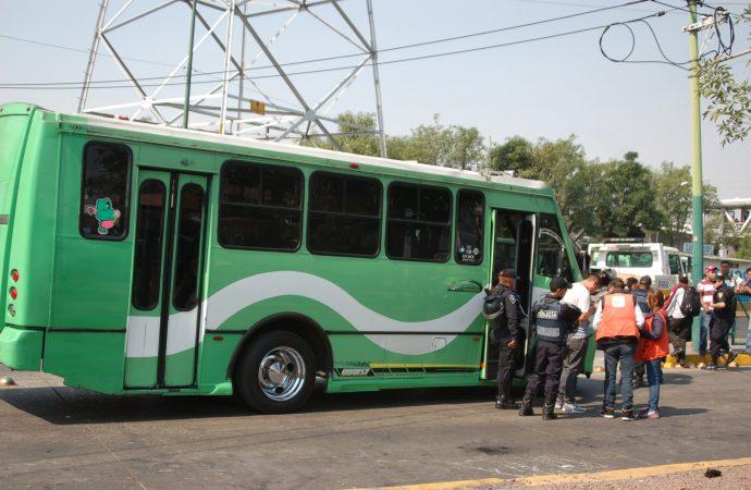 Reforzarán seguridad en transporte de Iztapalapa