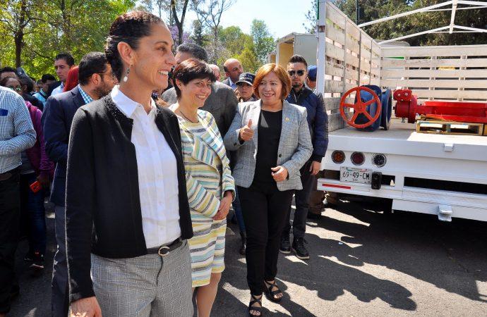 Sheinbaum pone en operación brigadas de atención de fugas de agua