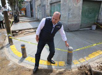 Con más de 18 mdp, alcaldía de Venustiano Carranza rehabilita pavimento y banquetas