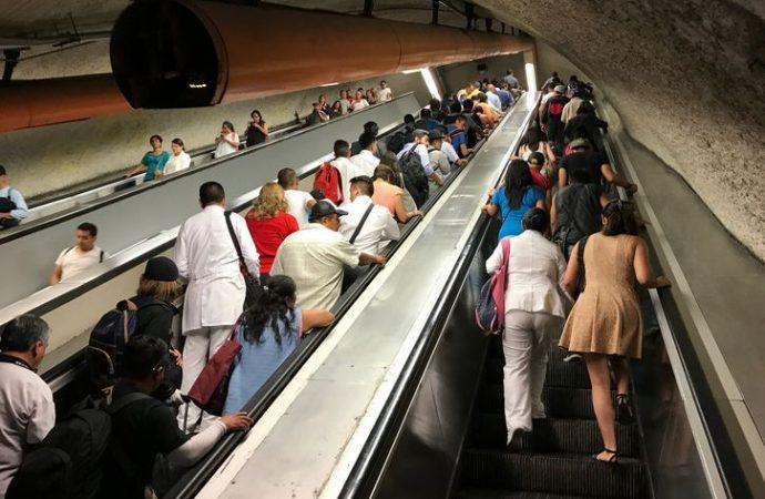 Metro continúa con revisión y mantenimiento de escaleras eléctricas