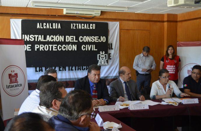 Se Instala el primer consejo de Protección Civil en Iztacalco.