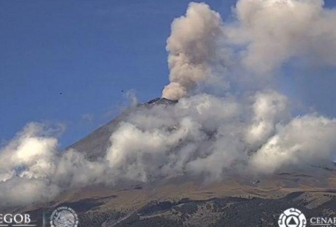 Sí habrá clases, informa Gobierno de Puebla tras explosión del Popocatépetl