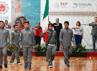 Desdén en abanderamiento de selección mexicana de Olimpiadas Especiales