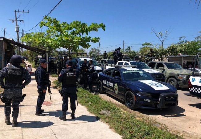 Fuerzas federales despliegan operativo en Veracruz