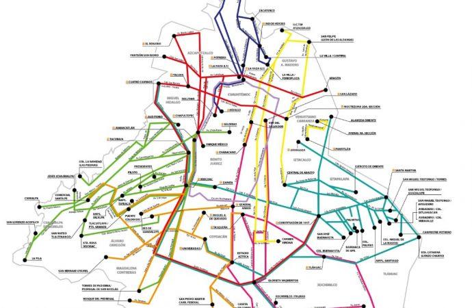 RTP diseña innovador mapa con 94 rutas de servicio