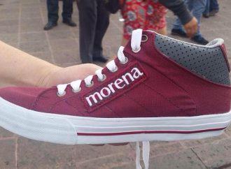 PRD denuncia entrega masiva de tenis para coaccionar voto a favor de Morena en todo el país