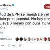 """AMLO a Peña en 2013: """"No hay obras ni trabajo. Lleva 6 meses con pura TV, viajes y cooptación"""""""