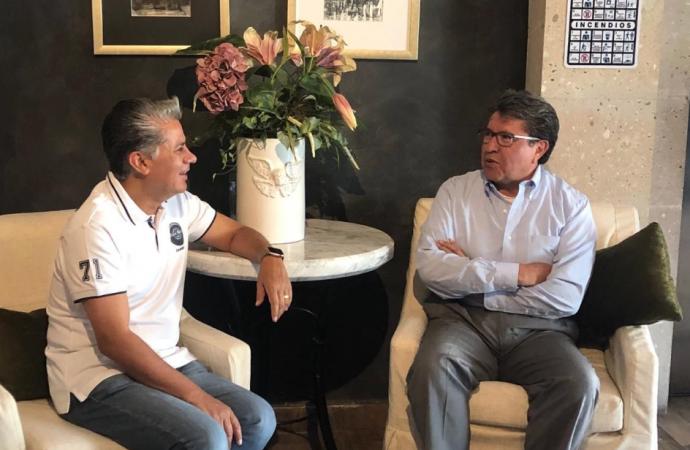 Refuerzan Monreal y Rojas estrategia para frenar a los salinistas en Morena