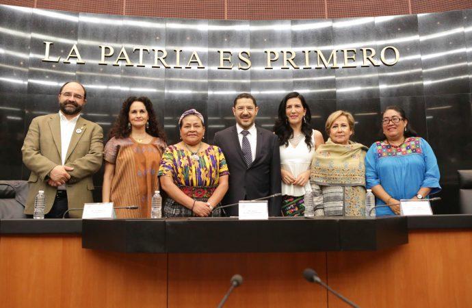 Senado y Asociación Menchú Tum firman convenio para fortalecer derechos de pueblos originarios