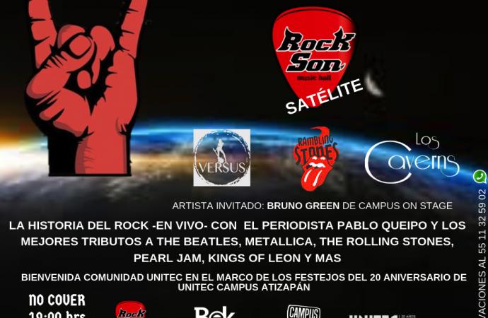 """El """"Día Mundial del Rock"""" se celebrará en grande este 13 de julio en Rock Son Satélite."""