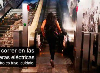 Por correr en escaleras eléctricas del Metro, madre e hija terminan lesionadas