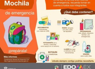 Invita Protección Civil a contar con un plan familiar en casos de emergencia