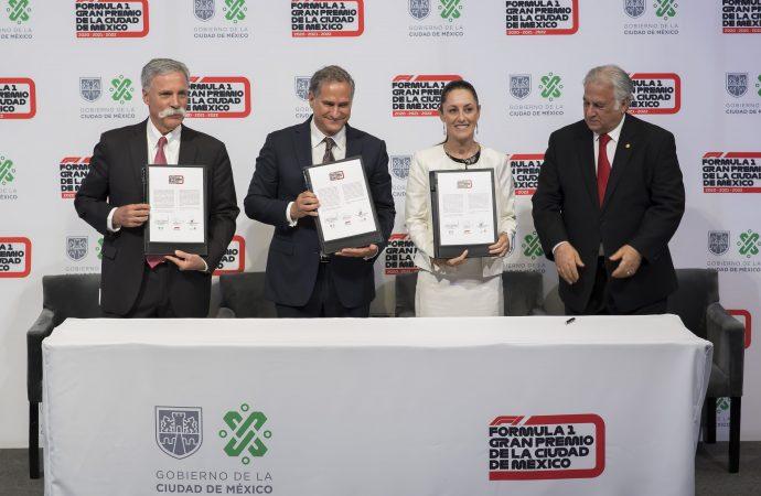 La Ciudad de México estará de F1 hasta 2022