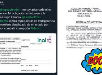"""Redes descubren al """"periodista"""" que pidió examen médico de AMLO; Es panista y no paga pensión"""