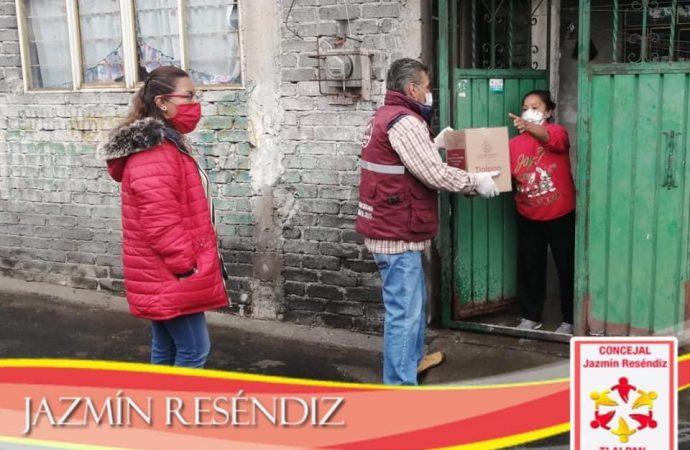Reparten en Tlalpan despensas a sobreprecio y hacen campaña
