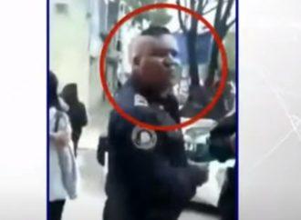 Policía escupe en la cara a una mujer, ocurrió en la Narvarte