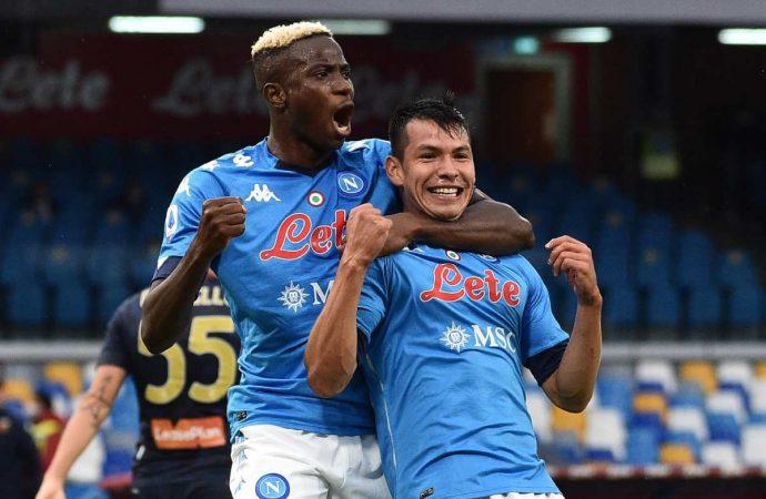 'Chucky' Lozano firma doblete en goleada del Nápoles