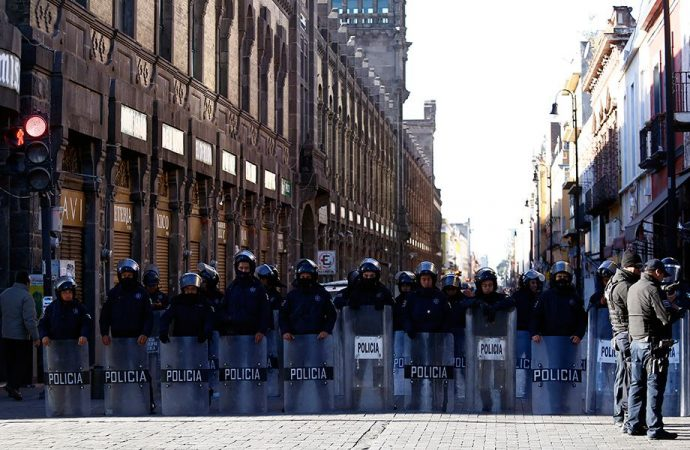 Dos mil 800 policías resguardarán Primer Cuadro para impedir entrada masiva