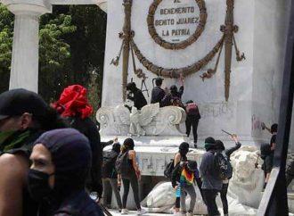 Castigo a vándalos que dañen monumentos durante manifestaciones