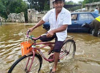 Yucatecos sin tregua, enfrentan inundaciones por Frente Frío 9