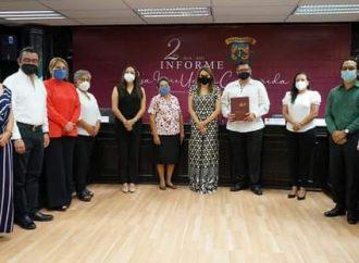 Presentó Rosa Irene Urbina Castañeda segundo informe de gobierno