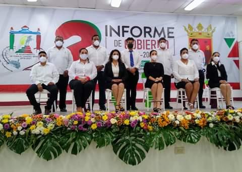 Rinde el ing. Manuel Narcía Coutiño segundo informe de actividades al pueblo tonalteco