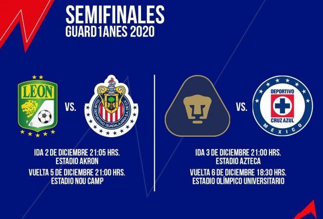Fechas y horarios de las semifinales del Guard1anes 2020