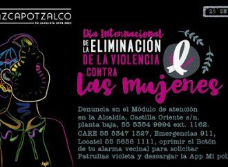 Alcaldía Azcapotzalco busca contener la violencia de género