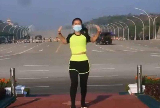 Maestra de aerobics capta 'sin querer' el golpe de Estado en Myanmar