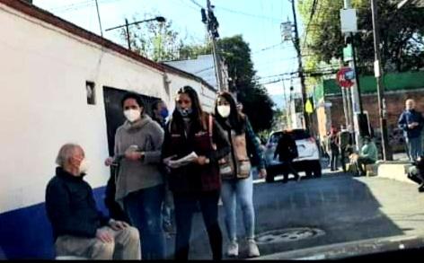 Utilizan programa de vacunación para promocionar a candidato de Morena a La Magdalena Contreras