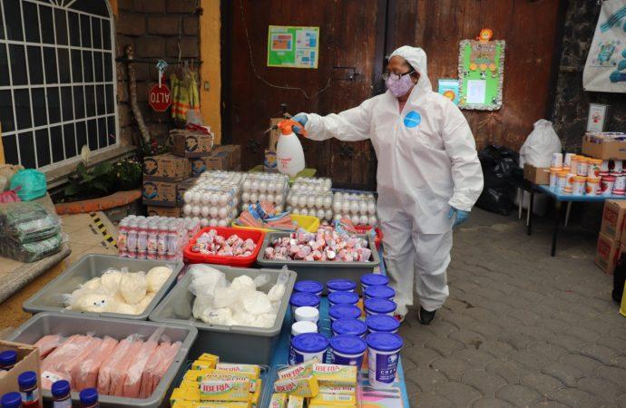 Xochimilco entrega apoyos alimentarios para niños de los CENDIS
