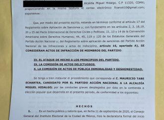 Panistas solicitan cancelar candidatura de Tabe por montajes