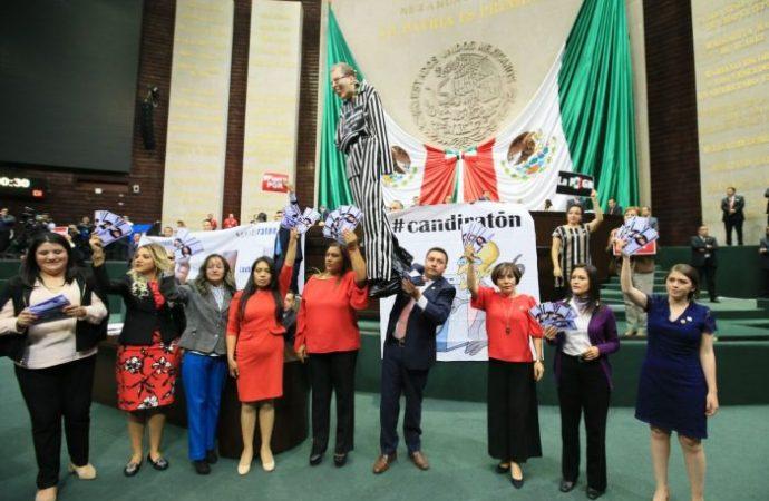 Candiratón enfrenta a PRI y Frente en la Cámara de Diputados