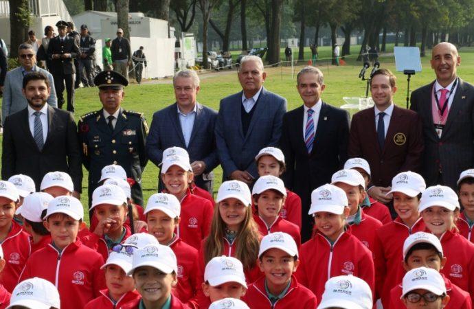 Orgullo para CDMX tener el World Golf Championships