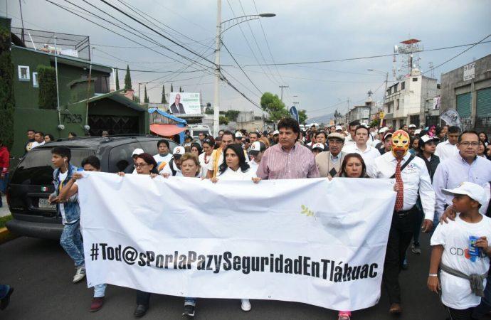 Marcha Barrales con madres víctimas de la delincuencia en Tláhuac