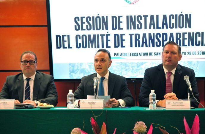 Cámara de Diputados instala Comité de Transparencia