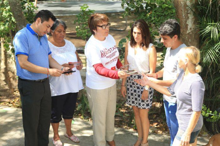 Convoca Laura Beristain a trabajar unidos para lograr el desarrollo social
